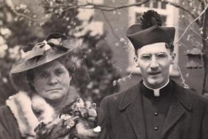 With my dear mother on the day of my Ordination. May 6, 1944