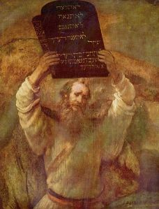 Rembrandt's Moses with the 10 Commandments