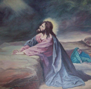 Painting of Christ praying on The Mount of Olives Darlington United Methodist Church Darlington, Maryland