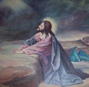 Painting of Christ praying on The Mount of Olives Darlington United Methodist Church Darlington, Maryland