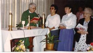 In addition to living my dream of being a Missionary in Alaska, I also saw another dream fulfilled.  The above picture is from the first Mass at Midway Airport on July 24, 1988!  We will celebrate its 25th Anniversary this month!  God is Good!
