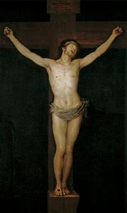Christ Crucified is a 1780 painting by Francisco de Goya via Wikipedia