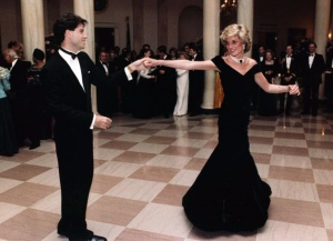 Princess Di dancing with John Travolta at the White House.  Picture via Wikipedia