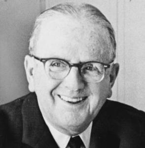 "Norman Vincent Peale ""Drop the idea that you are Atlas carrying the world on your shoulders. The world would go on even without you. Don't take yourself so seriously."" Picture via Wikipedia"