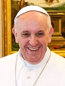 Pope Francis has a wonderful smile and hearty laugh, a good model for all of us to follow! Picture via Wikipedia