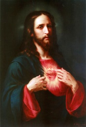 Sacred Heart of Jesus by José María Ibarrarán y Ponce, 1896 Via Wikipedia