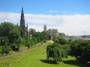 The Princes Street Gardens - Edinburgh, Scotland Picture via Wikipedia