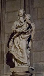 The Statue of the Virgin and Child Notre Dame de Paris Picture via Wikipedia