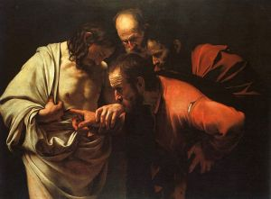 The Incredulity of Saint Thomas by Caravaggio Via Wikipedia Jesus was gracious – even to the Doubting Thomas