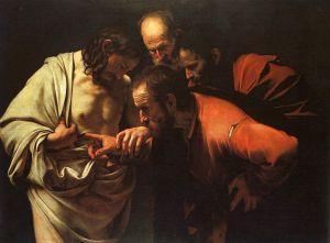 The Incredulity of Saint Thomas by Caravaggio Via Wikipedia Jesus was gracious – even to the Doubting Thomas