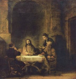 Rembrandt's The Supper at Emmaus Picture via Wikipedia