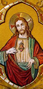 Embroidery of the Sacred Heart of Jesus in Saint Nicholas' Church, Ghent, Belgium Via WIkipedia