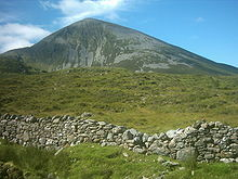 "Croagh Patrick (Irish: Cruach Phádraig, meaning ""(Saint) Patrick's Mountain""), is a 2,507 foot mountain and an important site of pilgrimage in County Mayo in Ireland.  Via Wikipedia"