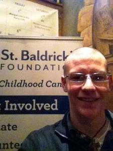 My grand-nephew Matthew, when he was a freshman at Loyola Chicago, shaved his head, raising over $750 as part of the fundraising for St. Baldrick's – an organization dedicated to eliminating childhood cancer.