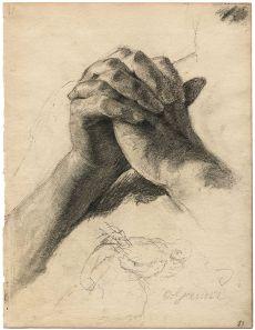 Hands in prayer by Otto Greiner, c. 1900 Via Wikipedia
