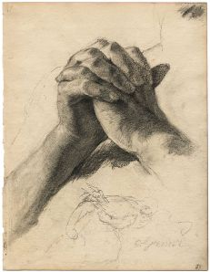 Hands in prayer by Otto Greiner, c. 1900 Via Wikipedia