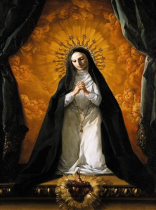 Saint Margaret Mary  Contemplating the Sacred Heart of Jesus Picture via Wikipedia