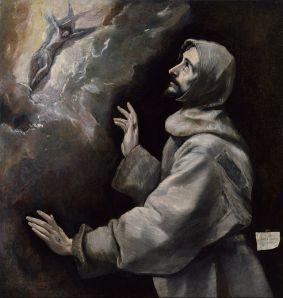 Saint Francis Receiving the Stigmata El Greco Via Wikipedia