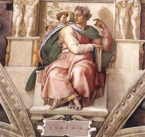Isaiah, by Michelangelo,  Sistine Chapel ceiling, Via Wikipedia