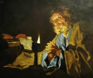 St. Peter in Prayer, Matthias Stom Via Wikimedia