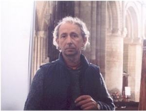 My friend, the artist, Dennis Creffield The photograph was taken by Dennis at Peterborough Cathedral in 1990