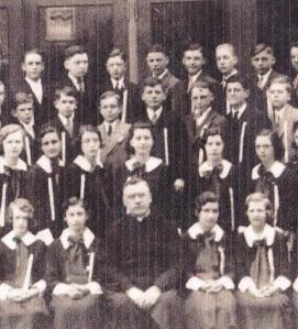 Part of my graduating class from St. Theodore, 1933. That's me, top row, third from the right!