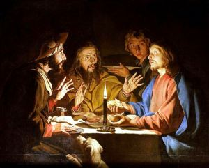 Supper at Emmaus with Candlelight Matthias Stom