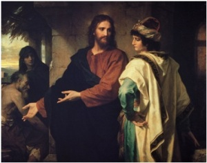 "Christ and the Rich Young Ruler""  by Heinrich Hofmann, 1889 via Wikipedia"