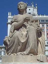 Dulcinea (1957), sculpture by F. Coullaut-Valera, in Madrid (Spain), via Wikipedia