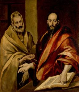 Saint Peter and Saint Paul. Oil on canvas by El Greco.  circa 16th-century. Hermitage Museum, Russia, Via Wikipedia