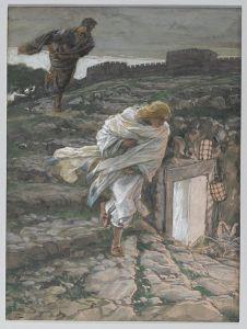 Saint Peter and Saint John Run to the Sepulchre By James Tissot – Via Wikipedia
