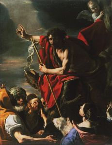 St. John the Baptist Preaching, c. 1665, by Cavaliere Calabrese, Via Wikipedia
