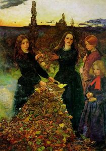 Autumn Leaves by John Everett Millais Via Wikipedia