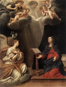 The Annunciation, by Francesco Albani via Wikipedia