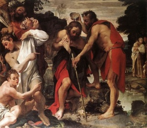 Annibale Carracci The Baptism of Christ Via Wiki Commons