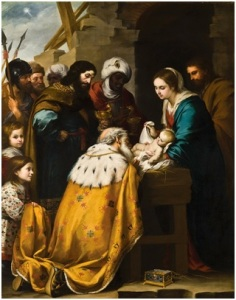 Adoration of the Magi  by Bartolomé Esteban Murillo,  17th century Via Wikipedia
