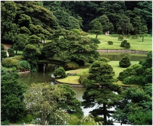 Rikugien, a Japanese garden in Tokyo, Japan via Wiki Commons