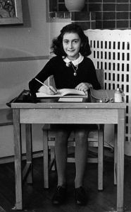 Possibly the most famous person to keep a journal. Anne Frank in 1940, Amsterdam (the Netherlands). Unknown photographer; Collectie Anne Frank Stichting Amsterdam via Wikipedia