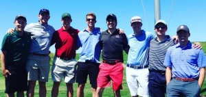 "My grand-nephew Matt (3rd from the right), like me, is an avid golfer. For 7 years, he and his high school friends have traveled the country in an annual golf outing. This year, they found their ""Acres of Diamonds"" here in Chicago at Harborside International Golf Center. He shot an 83 at this world renown golf course!"