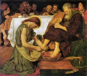Jesus Washing Peter's Feet. By Ford Madox Brown, Via Wikipedia