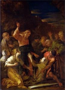 Christ cleansing a leper Jean-Marie Melchior Doze, 1864, Via Wikipedia