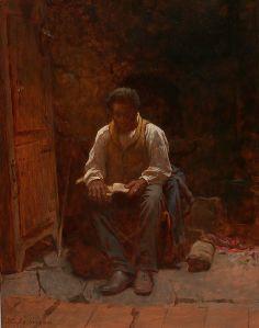 The Lord is My Shepherd Eastman Johnson Smithsonian American Art Museum via Wikipedia
