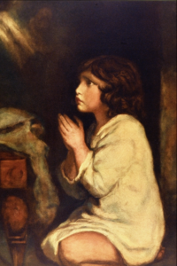 The Infant Samuel at Prayer, Painting by Joshua Reynolds, (1723-1792)   via wikipedia