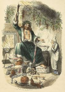 Scrooge's third visitor, from Charles Dickens: A Christmas Carol. Illustrations by John Leech. London: Chapman & Hall, 1843. First edition. Via Wikipedia