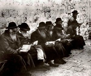 The Psalms are one of the most beautiful books of the Bible, with a strong tradition of prayer for Jews and Christians alike. The above photo is from 1929 and shows Jewish Men praying  at the Wailing Wall in Jerusalem.  There's a good chance  that they are praying the Psalms. Photo via Wikipedia